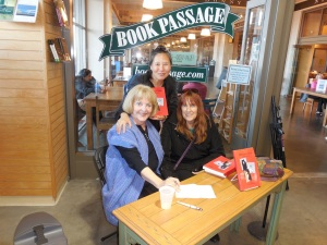 Author Carol Sheldon with friends Teresa LeYung Ryan and Allison Pratt.