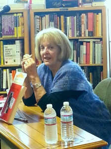 Carol at a recent book reading in San Francisco