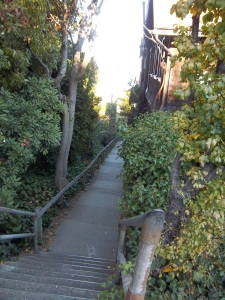 One of many hidden stairways