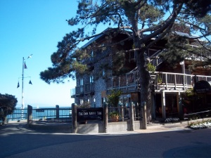 an upscale hotel in downtown Sausalito